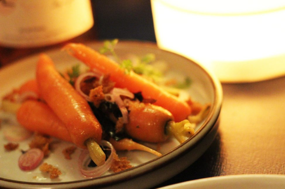 Slow baked carrots at Manfreds Copenhagen