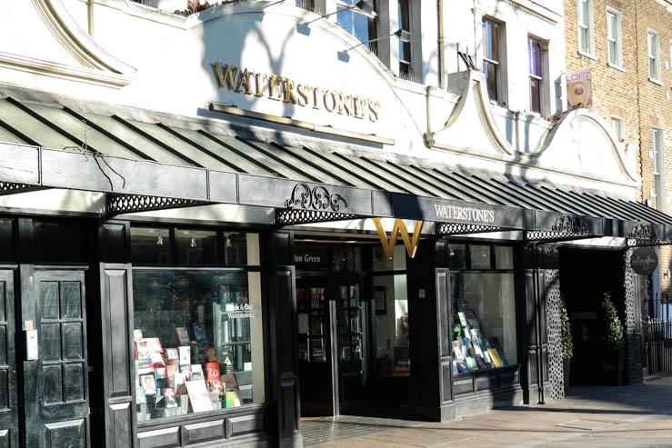 Waterston's book shop on Islington Green in Angel Islington