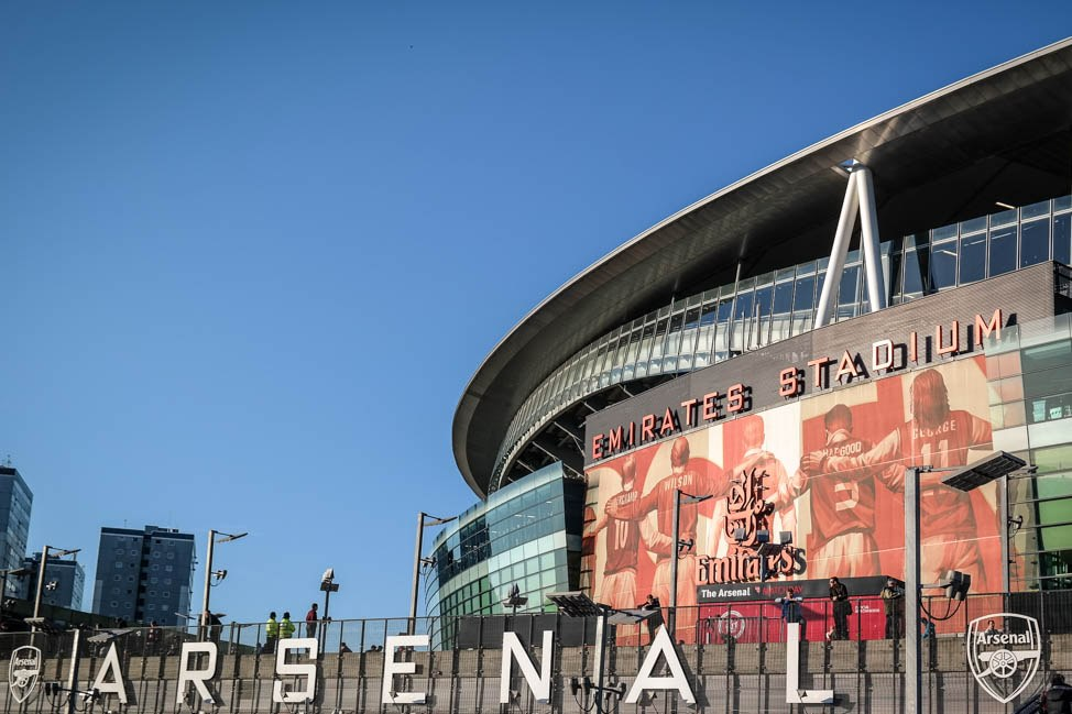 English Premier League tickets: the exterior of Arsenal's Emirates Stadium