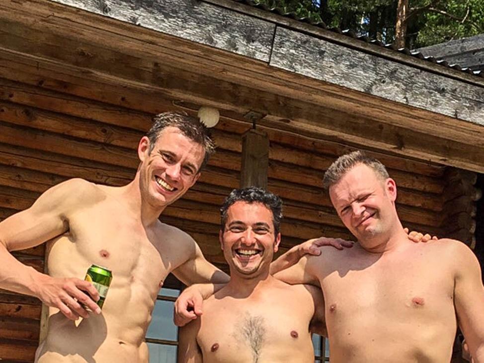 Sauna men nude