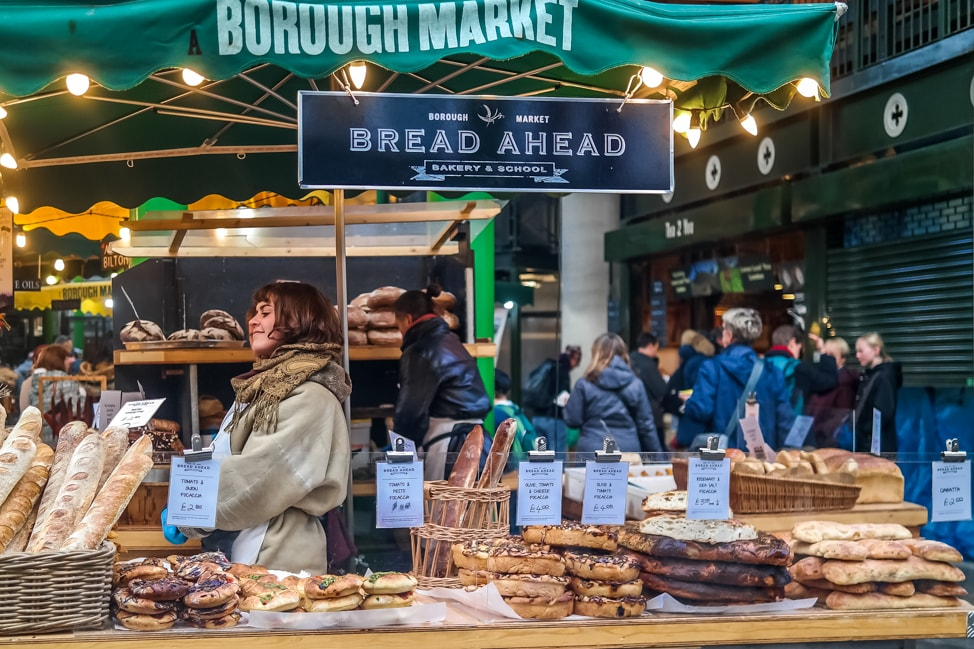 What to eat at Borough Market, London: Bread Ahead bakery