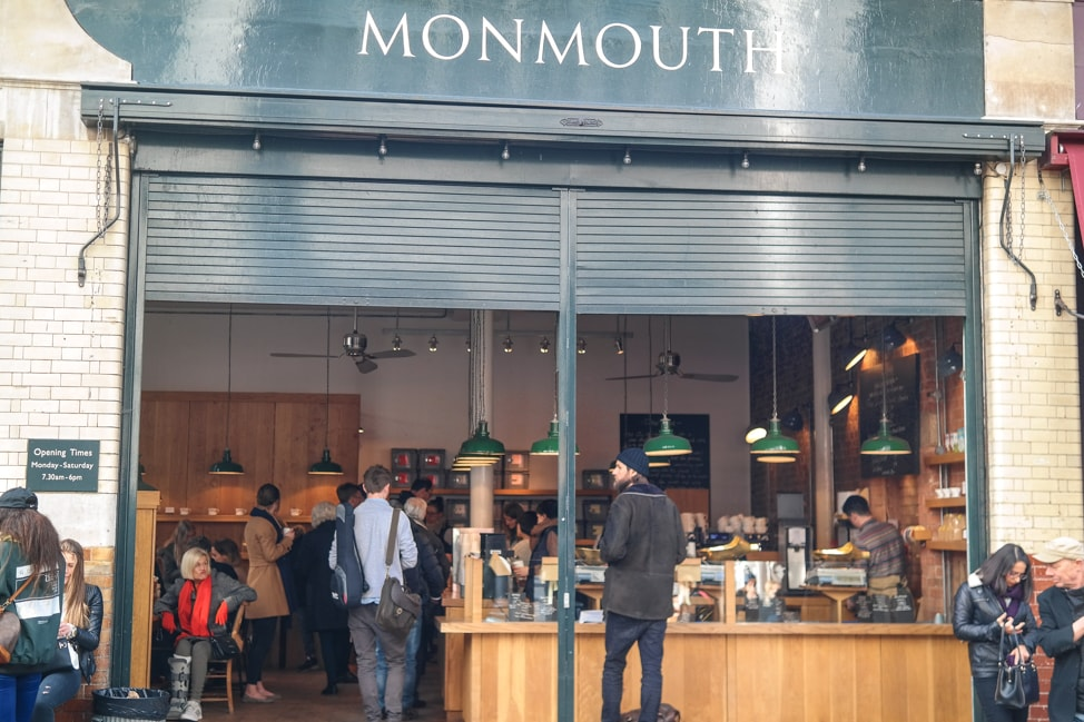What to eat at Borough Market, London: Monmouth Coffee