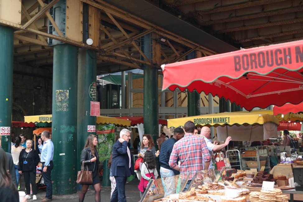 What to eat at Borough Market, London: the covered stalls