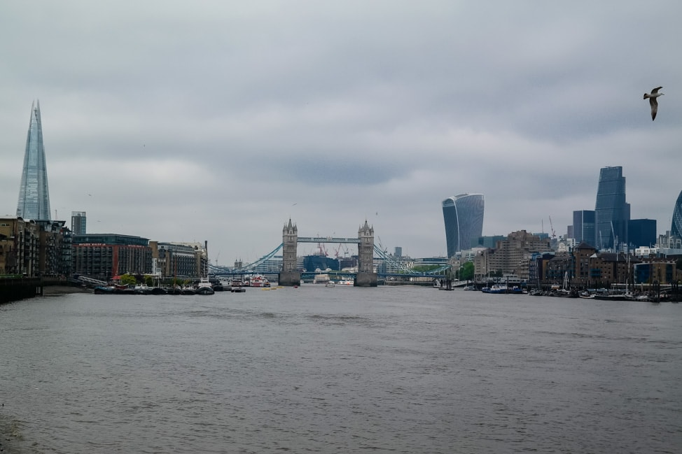 The view of Tower Bridge from Bermondsey