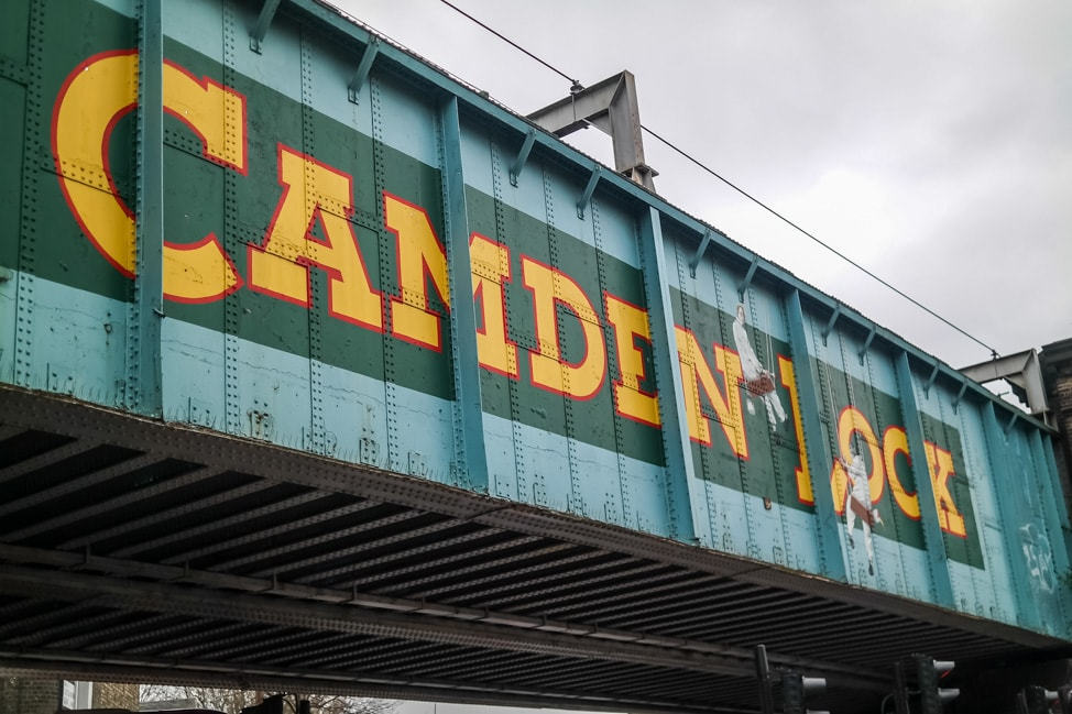 Entrance to Camden Lock Market, London