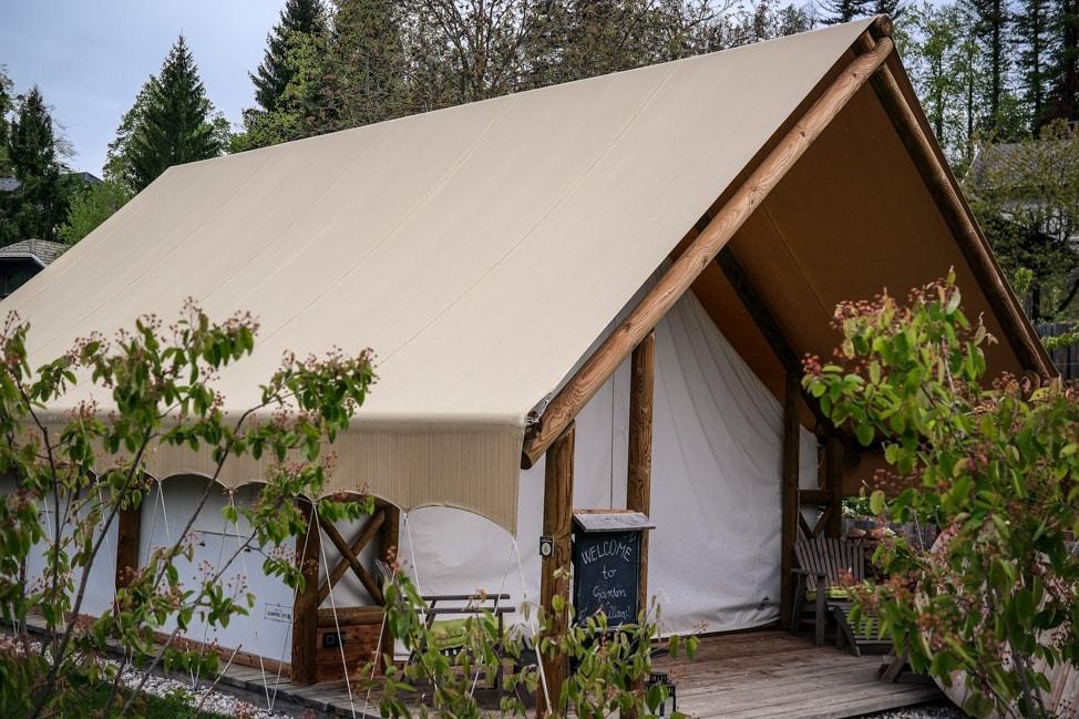 Glamping Tent at Garden Village Eco Resort, Lake Bled