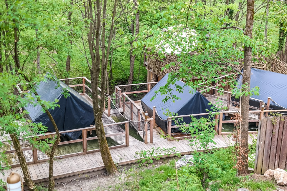 Pier Tents At Garden Village Eco Resort, Lake Bled