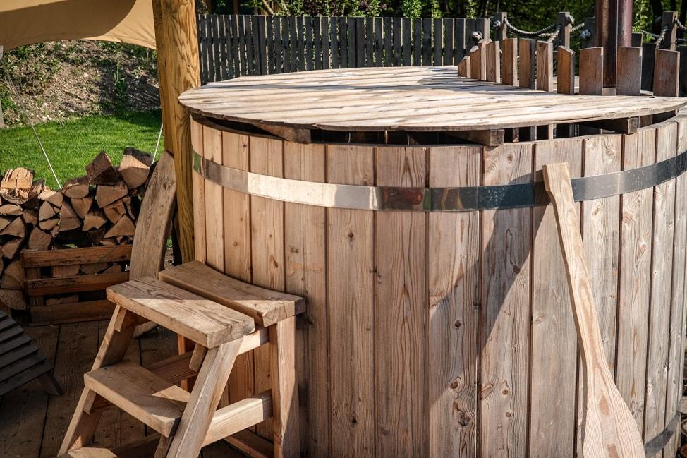 Hot tub at Garden Village Eco Resort, Lake Bled