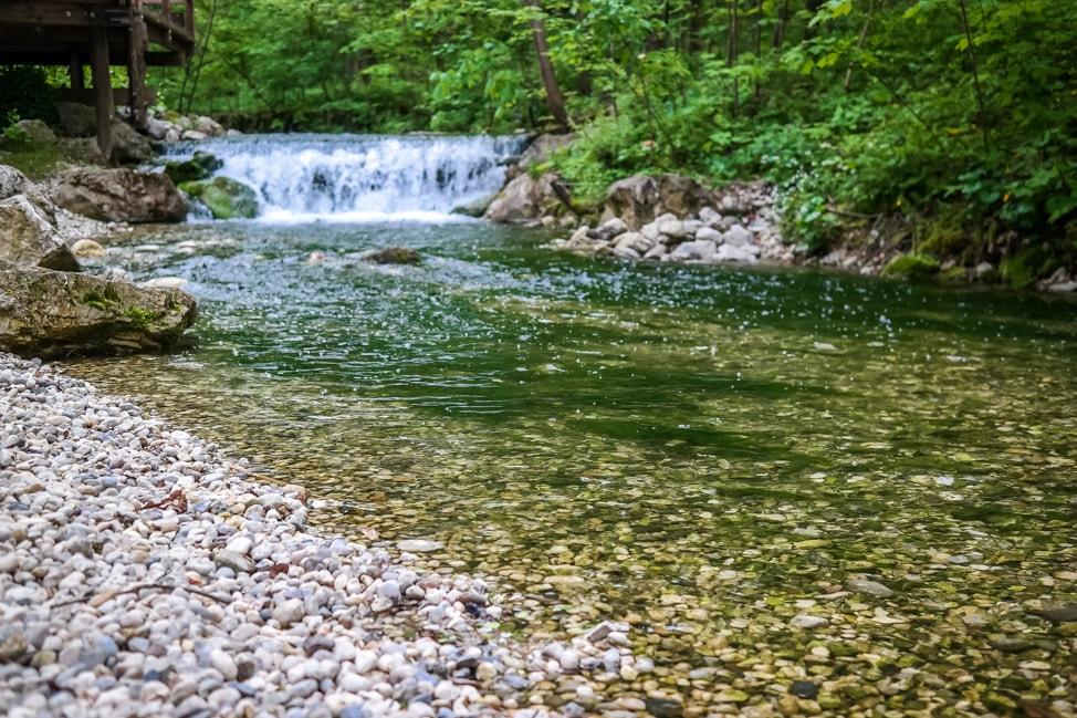 Brook at Garden Village Eco Resort, Lake Bled