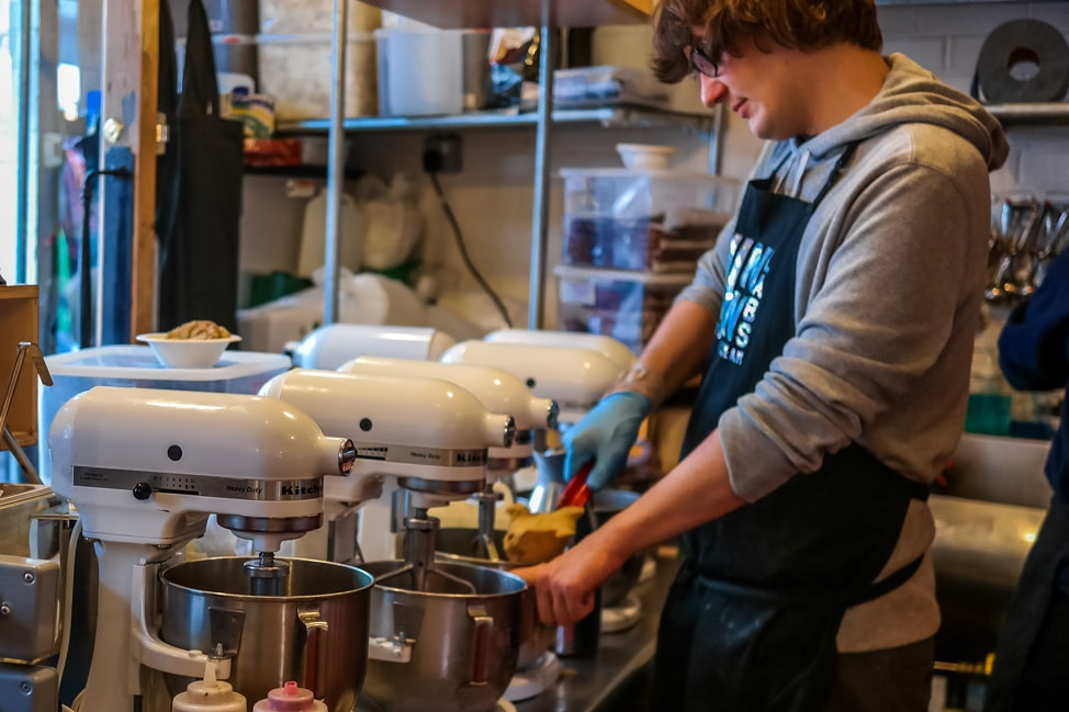 The best ice cream in London: Ice cream being made to order, Chin Chin Labs, Camden