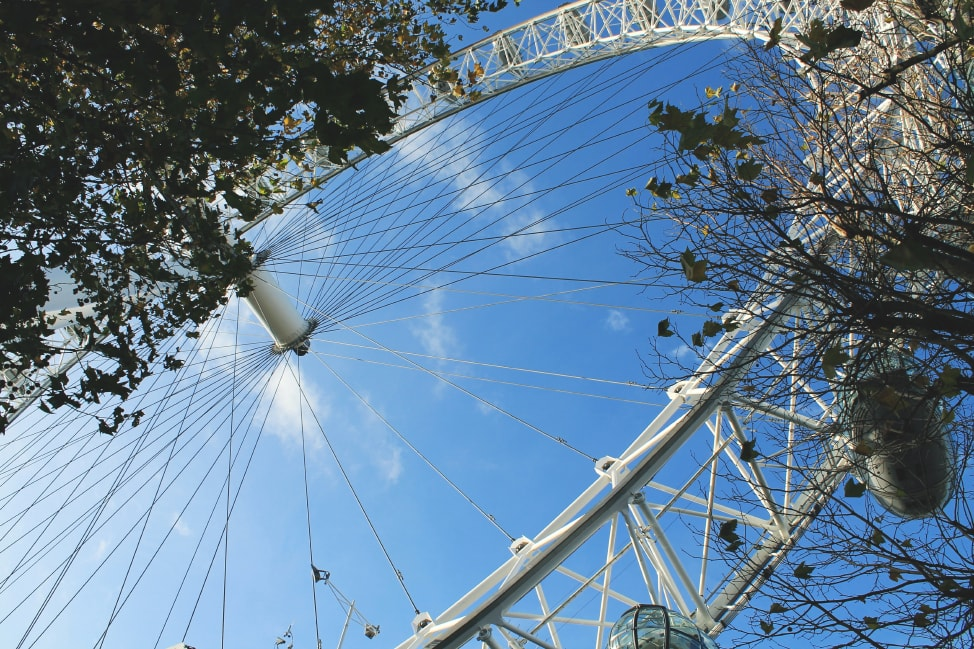 London Eye...not part of our London summer bucket list!