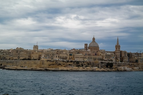 Our view of Valletta from our home base of Sliema while visiting Malta
