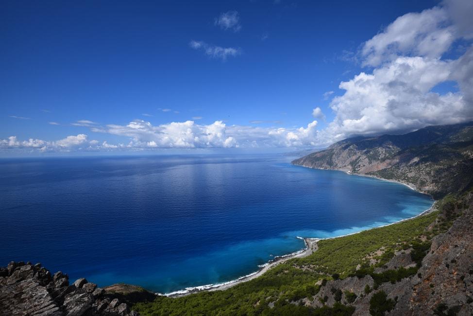 Crete Holidays -- A view over the pristine Crete coast