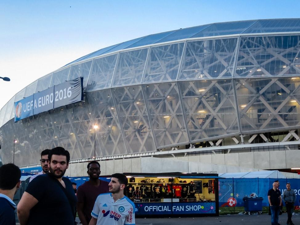 Outside stadium for Spain vs Turkey, Euros 2016 in Nice, France
