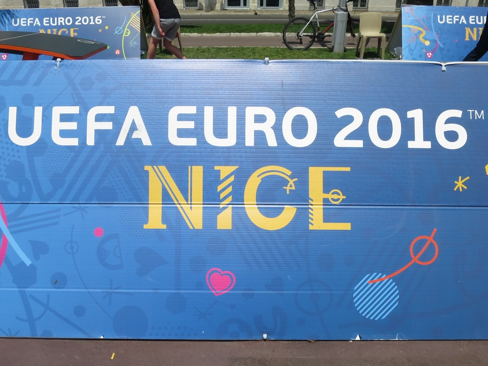 One of the activity zones during the Euros 2016 in Nice, France