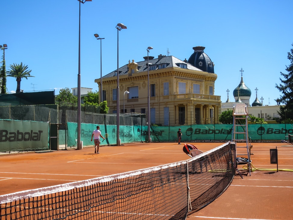 The Nice Lawn Tennis Club, where we played during the Euros 2016 in Nice, France