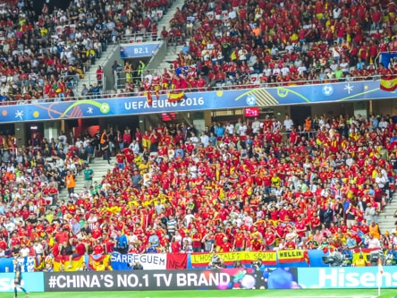 The Spanish fans going crazy during Euros 2016 in Nice, France