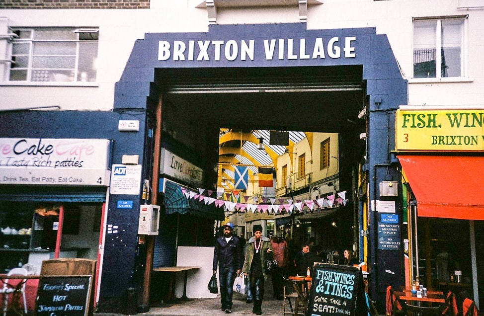 The Best Places to Eat in Brixton Market -- Entrance to Brixton Village