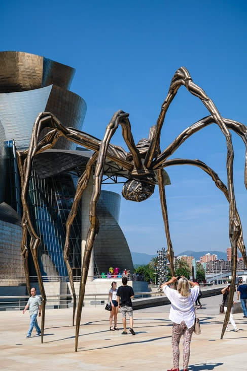 'Maman' by Louise Bourgeois at the Guggenheim Museum Bilbao in Bilbao, Spain