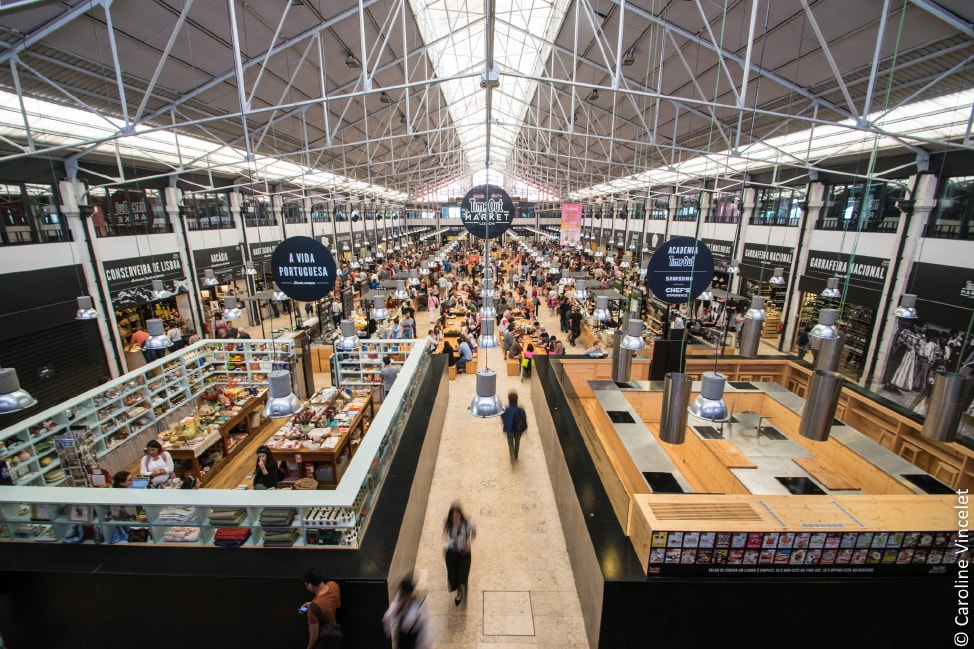 The inside of Mercado da Ribeira, one of the underrated European food markets