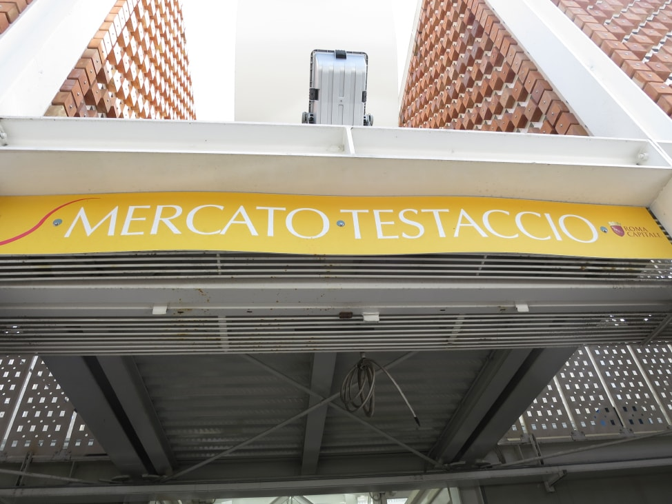 The entrance to Mercato Testaccio, one the underrated European food markets