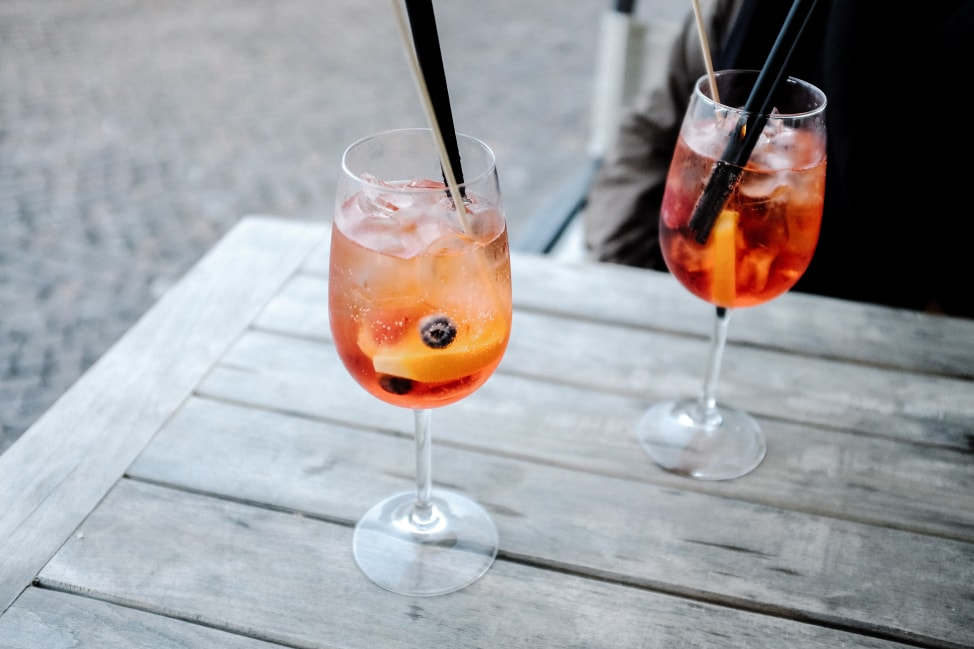 Aperol Spritz on our Italy road trip