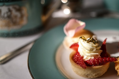 Some of the tempting treats at afternoon tea at Fortnum and Mason