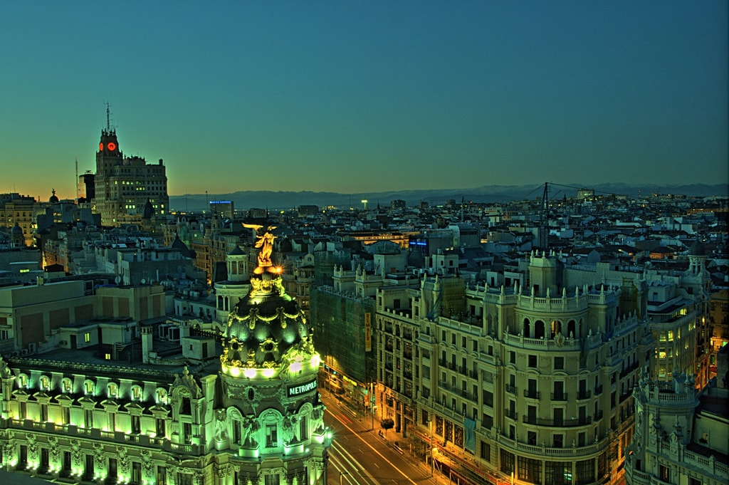 Madrid, Spain at night: 48 Hours in Madrid