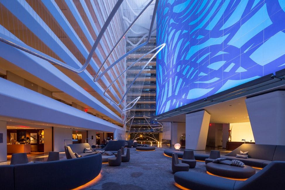 The Conrad New York: The beautiful lobby