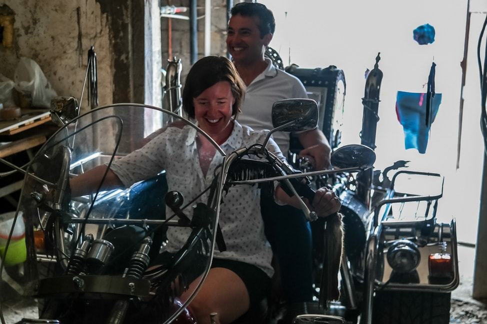 Big Berry Resort: Mojca's custom built motorcycle