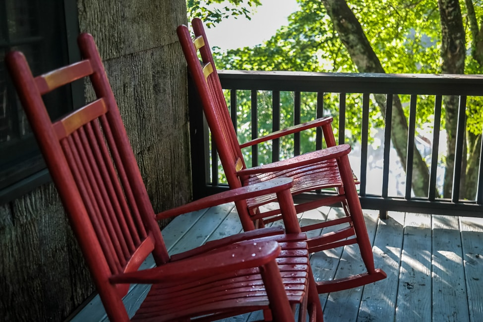 High Hampton Inn: front porch of our cottage