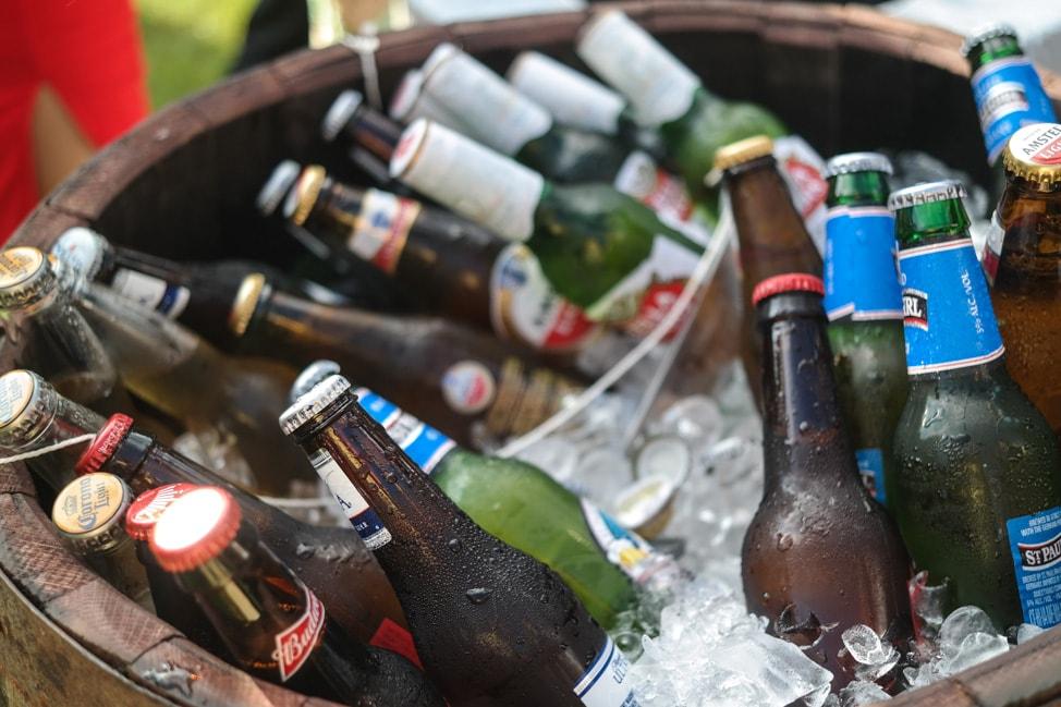 High Hampton Inn: plenty of cold beverages for the wedding