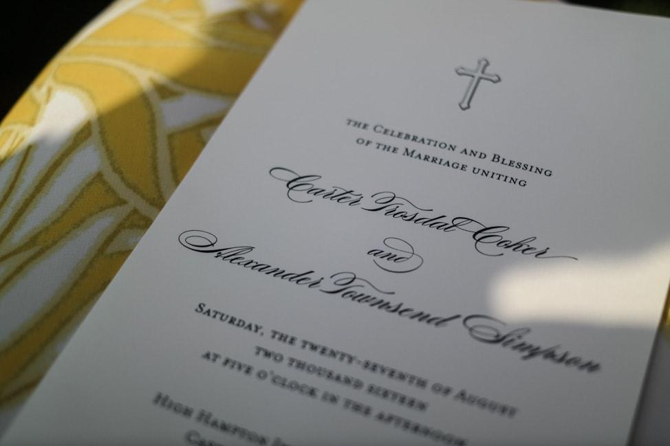 High Hampton Inn: the wedding ceremony program