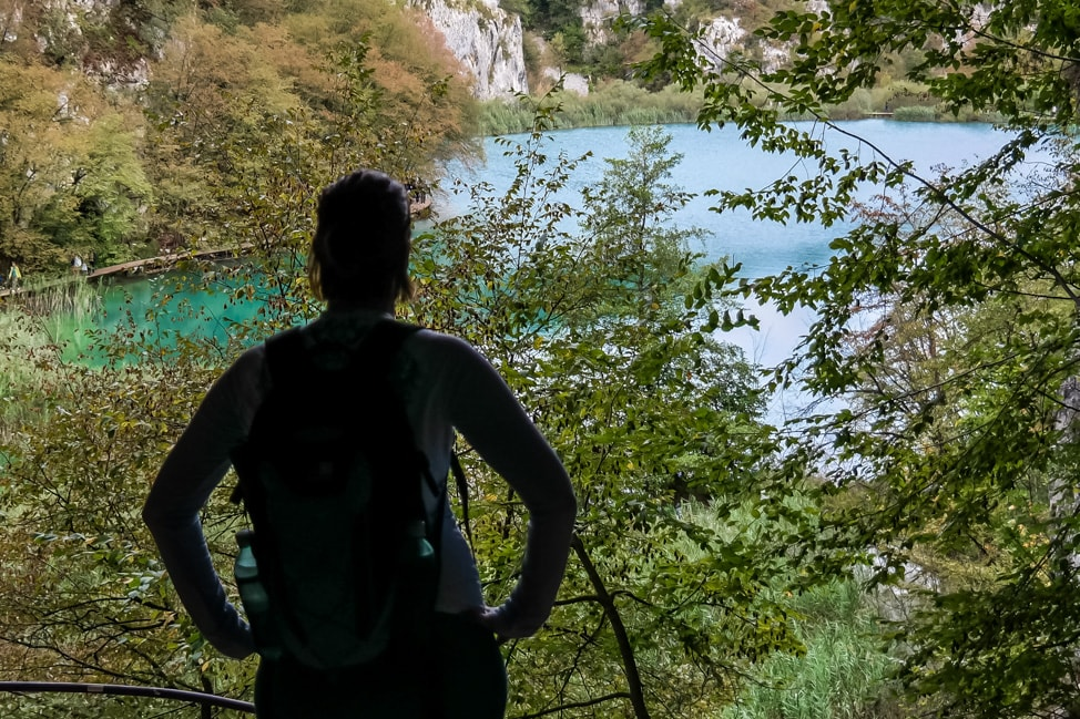 Visiting Plitvice Lakes: A view from the trail