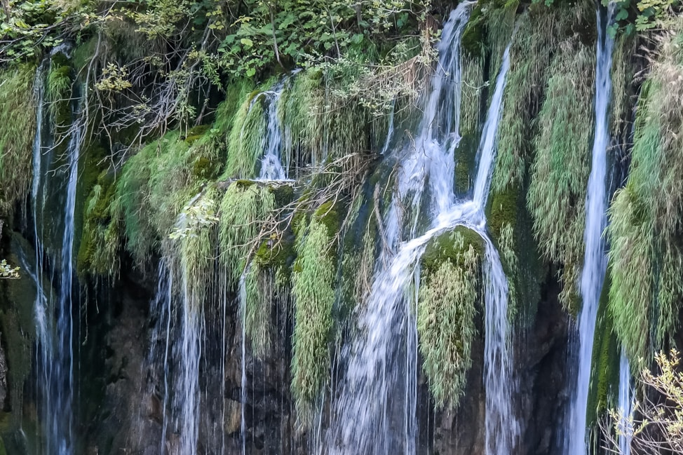 Visiting Plitvice Lakes: one of the many waterfalls