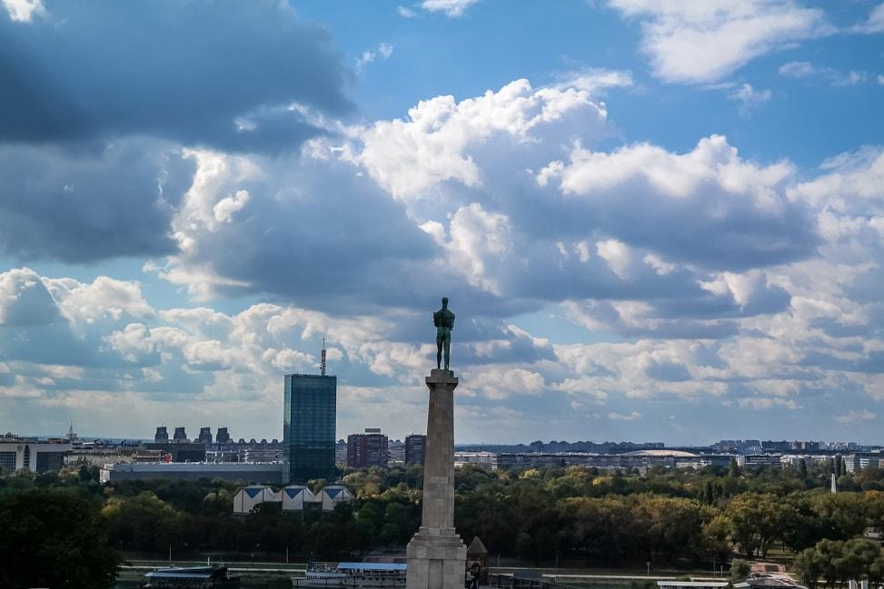belgrade serbia victor statue