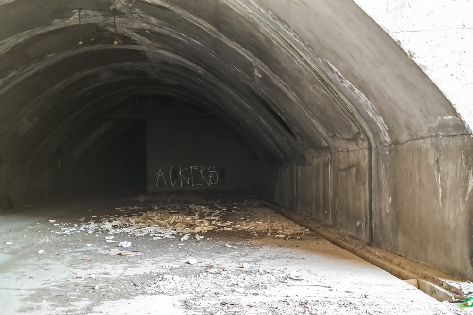 Mostar Bosnia: the empty military bunker