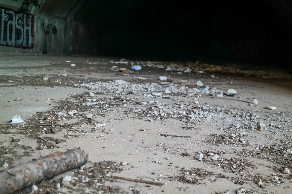 Mostar Bosnia: the abandoned military bunker