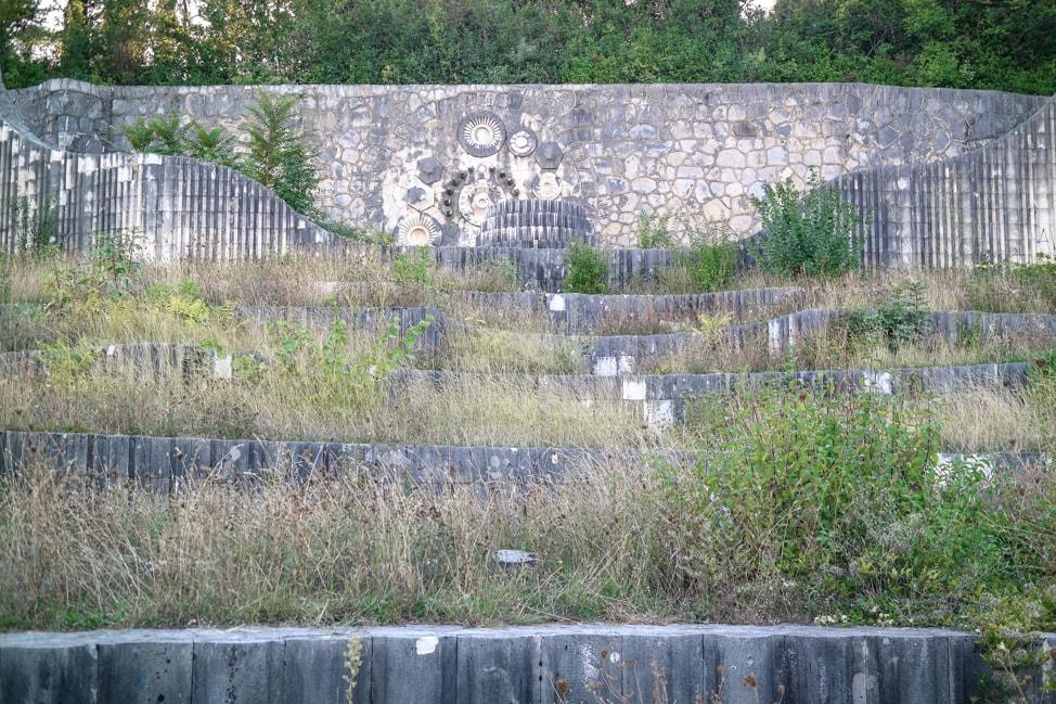 Mostar Bosnia: the abadoned Partisan Park