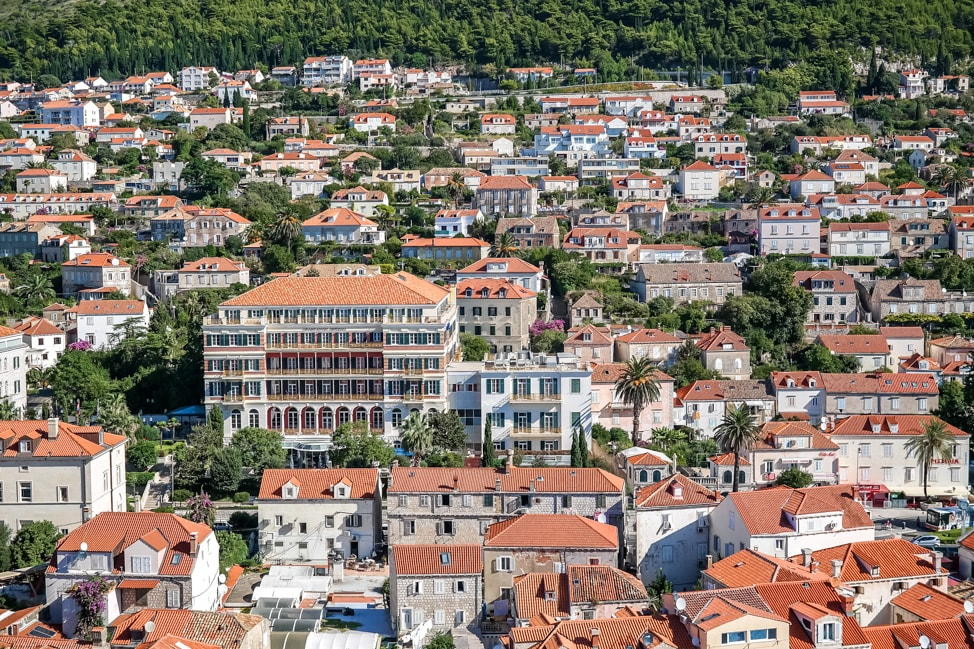 Dubrovnik Game of Thrones Tour: a look back up the hillside of Dubrovnik