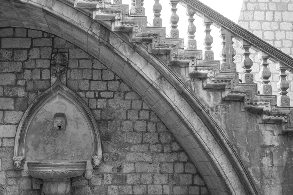Dubrovnik Game of Thrones Tour: the stairs of the Spice Palace of Qarth
