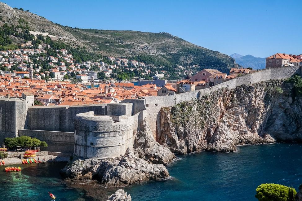 Dubrovnik Game of Thrones Tour: looking back towards King's Landing