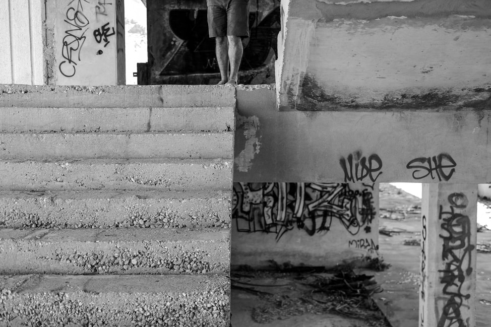Mostar sniper tower: the main stairwell