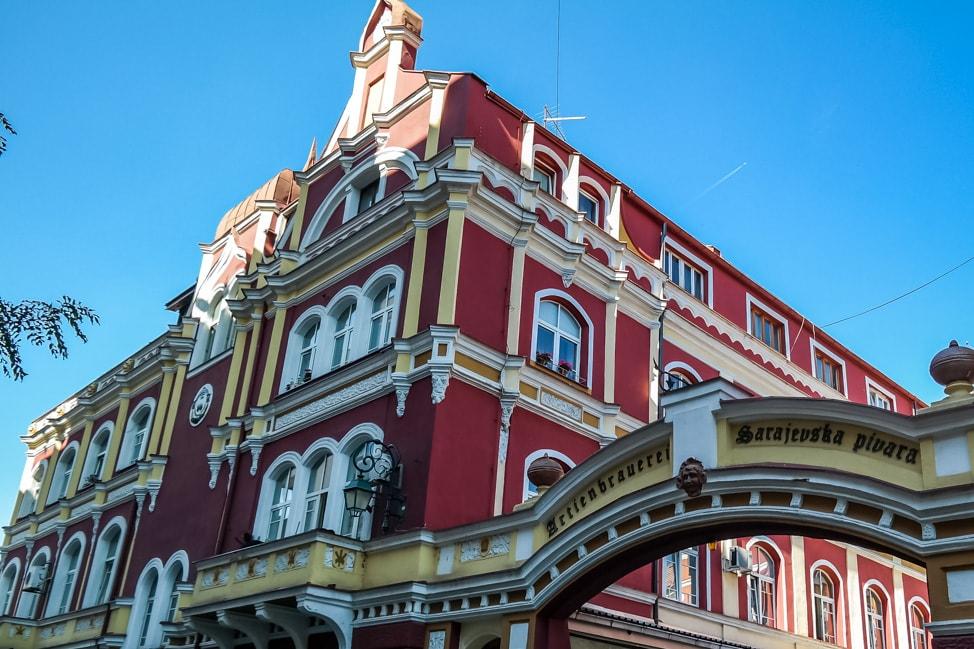 Sarajevo Bosnia: beautiful building in city center