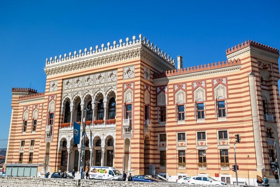 Sarajevo Bosnia: historic Sarajevo city hall