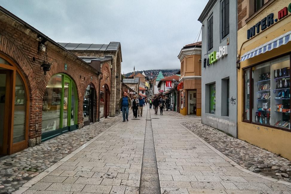 Sarajevo Bosnia: the old town
