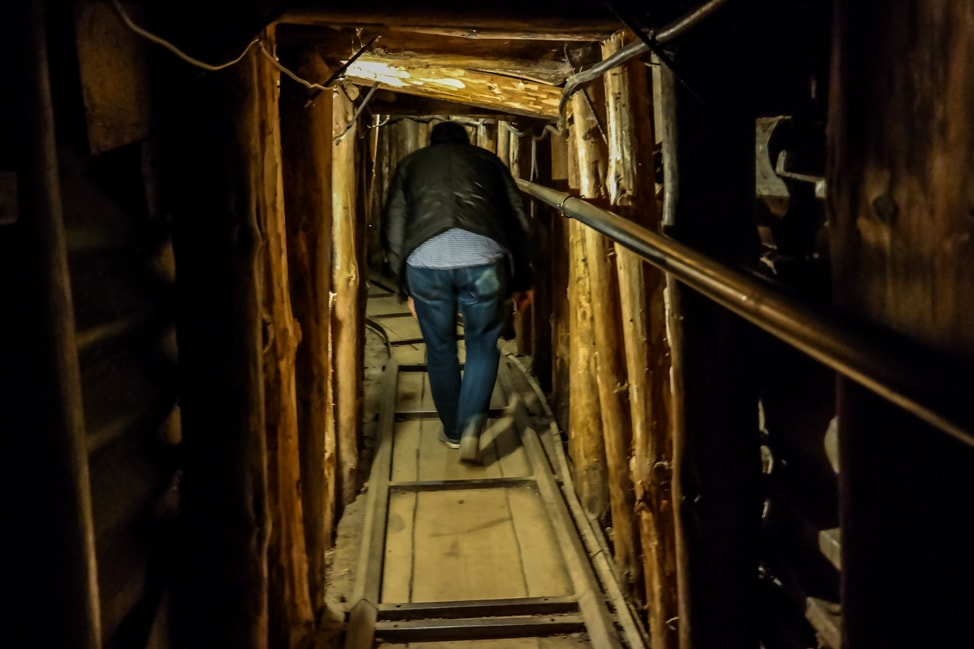 Sarajevo Bosnia: the cramped war tunnels