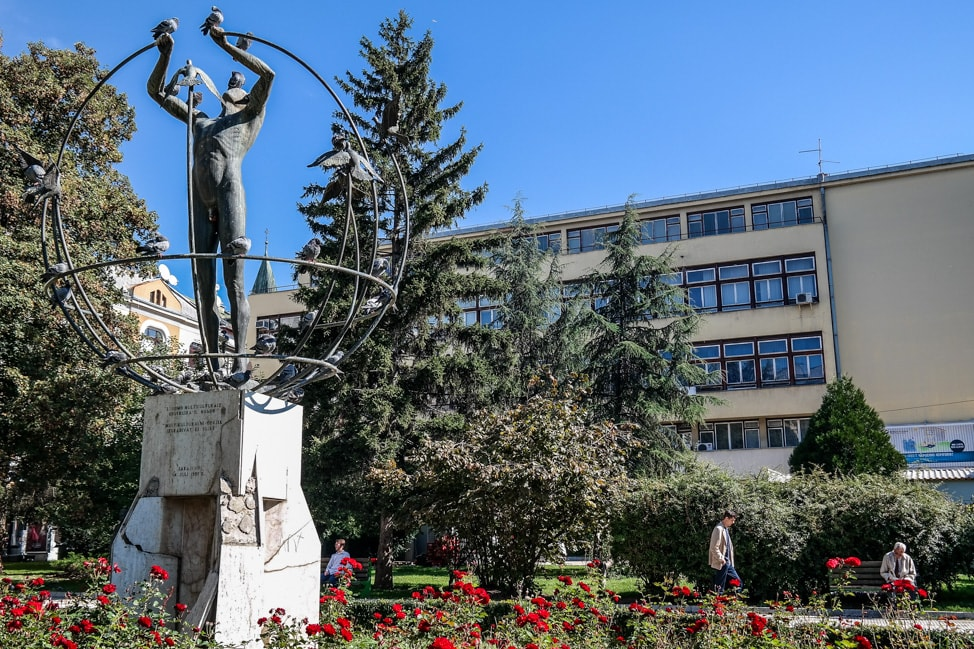 Sarajevo Bosnia: statue donated after the war