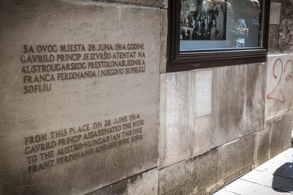 Sarajevo Bosnia: war memorial