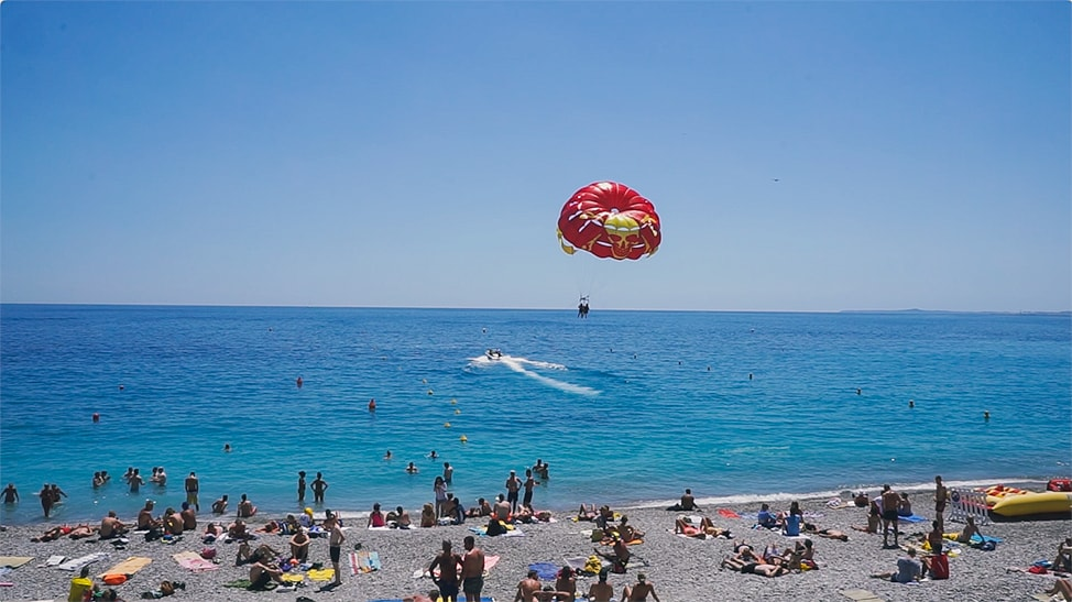 southern france road trip nice parasailing
